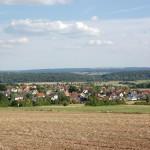 Blick von der Grillhütte auf Langenstein