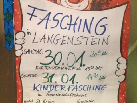 Faschingsveranstaltung Langenstein 2016