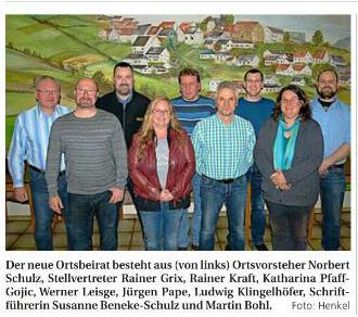 Bild des neues Ortsvorstehers Norbert Schulz in Langenstein