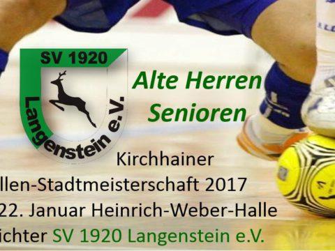 Hallen-Stadtmeisterschaft SVL Kirchhain Langenstein Januar 2017