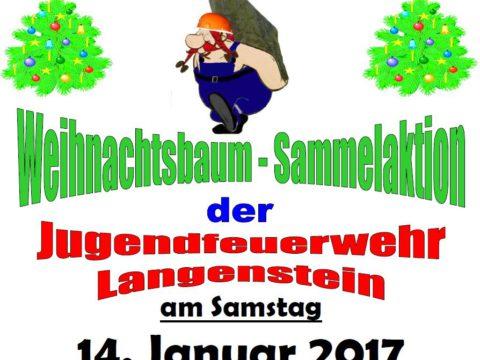 Weihnachtsbaumsammelaktion 2017