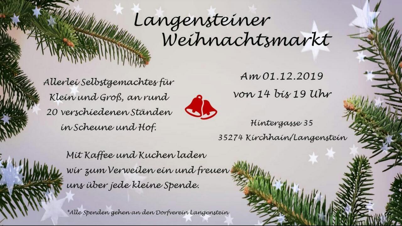 Weihnachtsmarkt in Langenstein Flyer